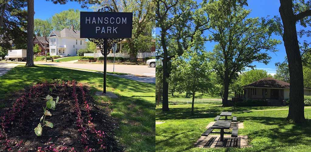 Hanscom Dog Park on a sunny day