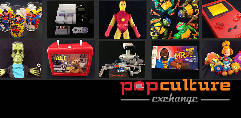 A variety of quirky toys available at Pop Culture Exchange