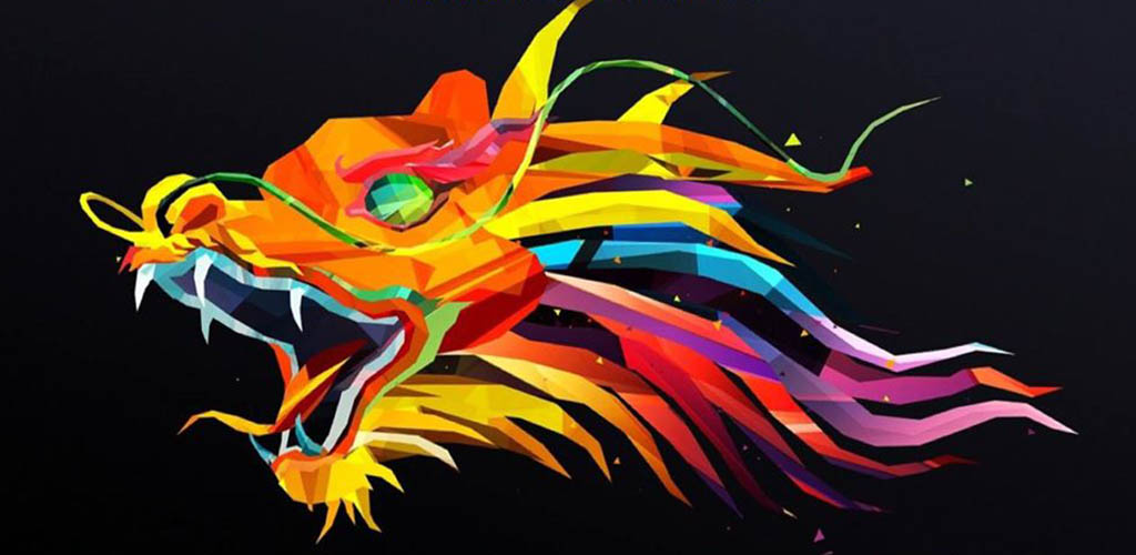 The colorful logo of The Dragon Upstairs