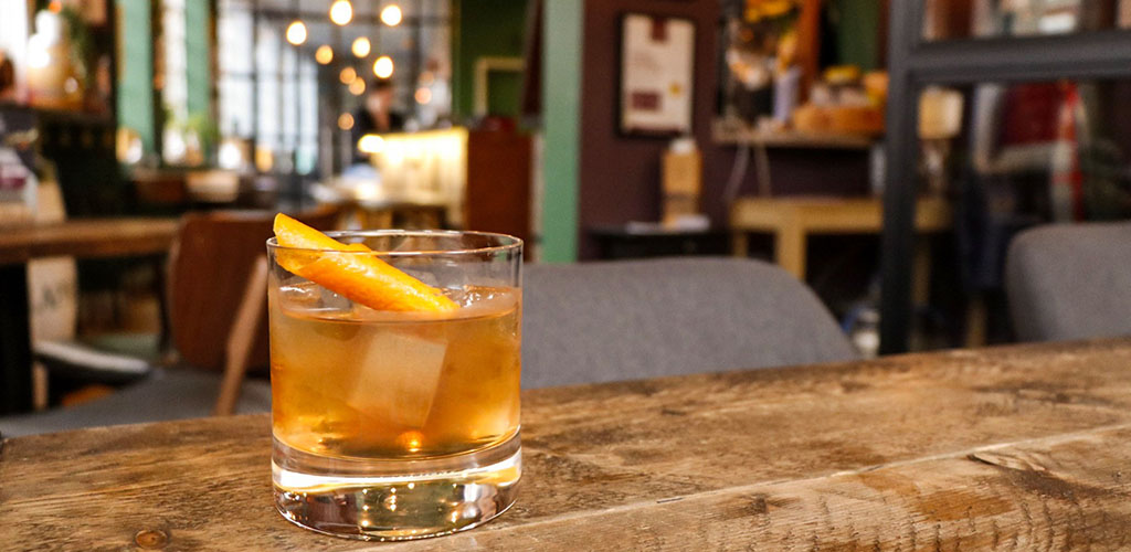 An old fashioned from The Birmingham Whisky Club