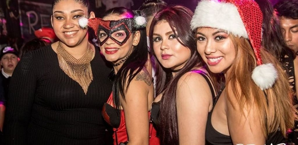 Omaha cougars in a Christmas party at Rehab Nightclub