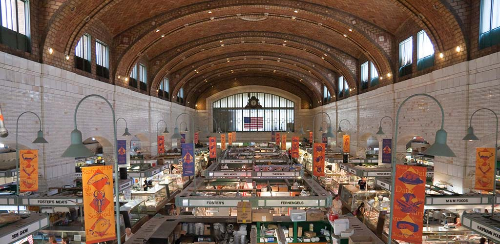The spacious West Side Market
