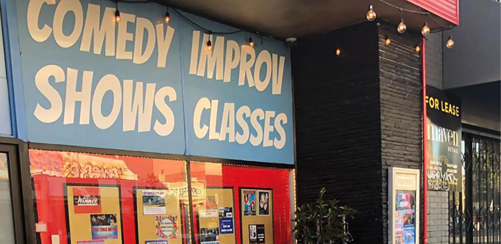 Exterior of All Out Comedy Improv