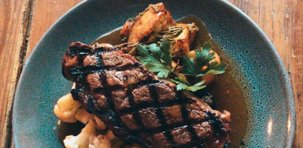 Steak and veggies from Petite Bar