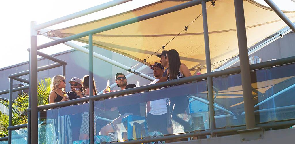 The balcony of Berkeleys Sports Club