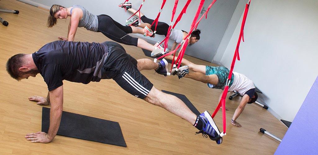 A workout class at Biolife Gymnasium