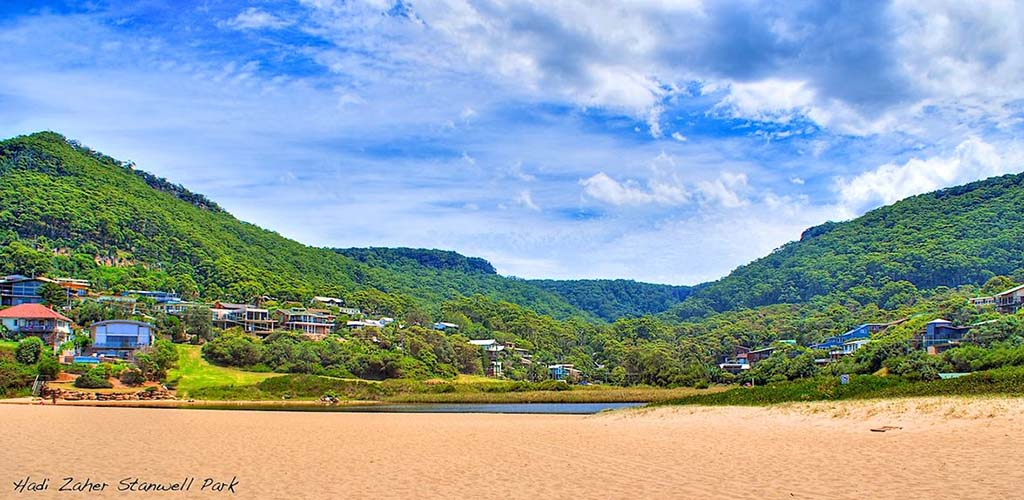 The beautiful beach at Stanwell Park