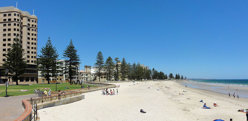 Summer at Glenelg Beach