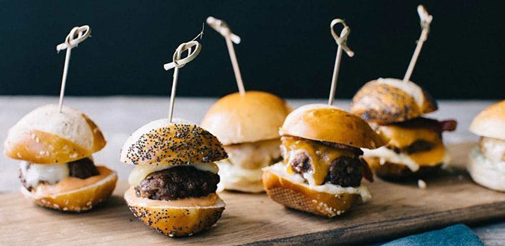 Mini burgers from De Luca's Cooking Class