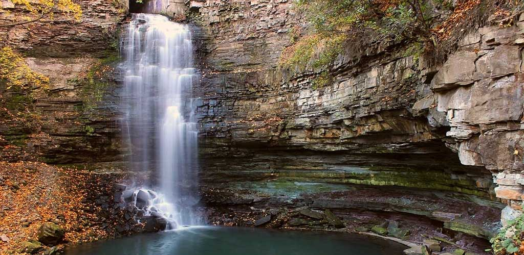 The beautiful Tiffany Falls