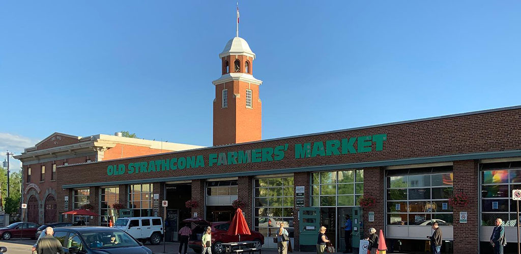 Exterior of Old Strathcona Farmers Market