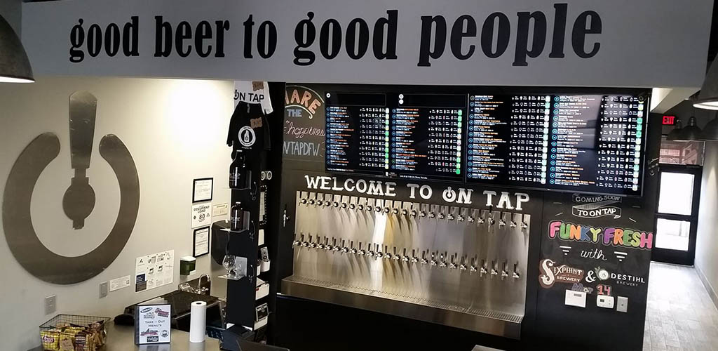 The many different brews available at On Tap