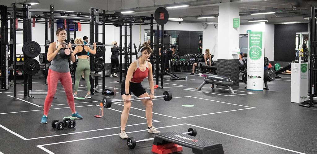 Ladies working out at Pure Gym