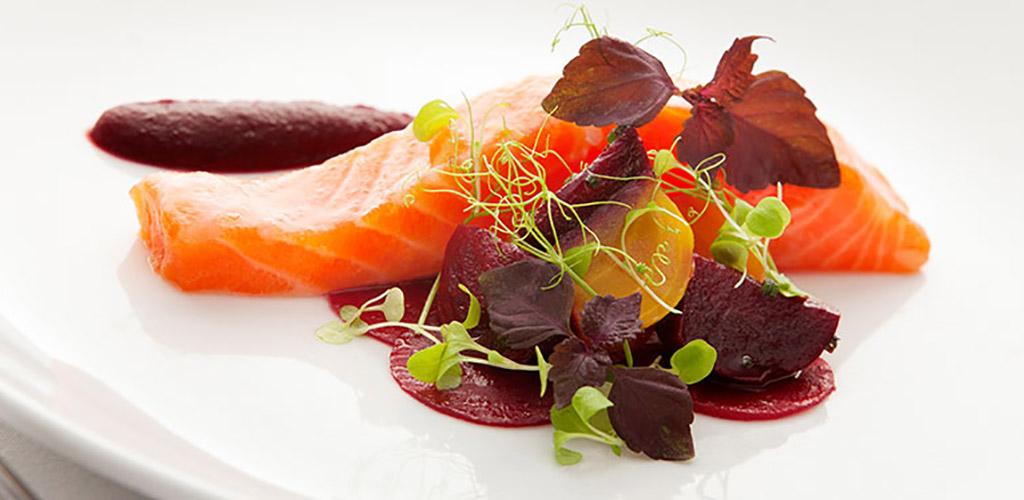 Salmon sashimi from Restaurant Mason