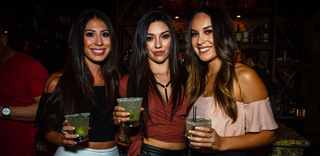 Young cougars in Fresno drinking margaritas at The Standard Restaurant and Lounge