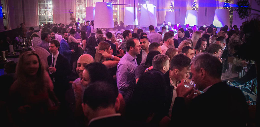 A busy evening at The Corinthian Club