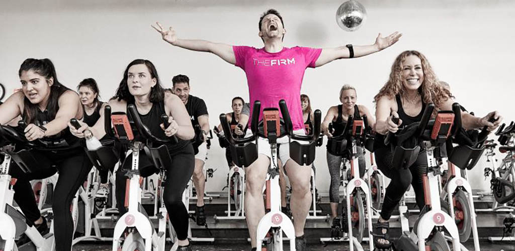 A fun spin class at The Firm
