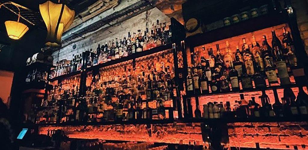 The bar shelf at The Koutetsu