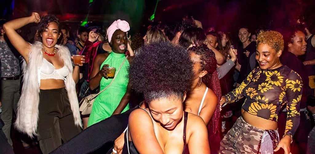 The busy dancefloor of Uptown Nightclub