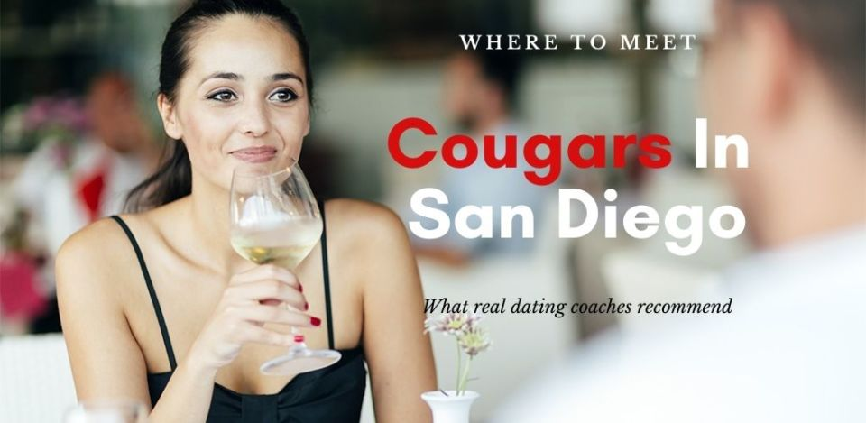 Beautiful woman drinking wine at a cougar bar in San Diego California
