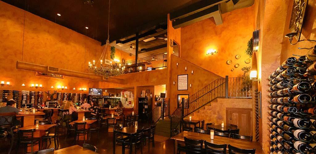 Copa Wine Bar has romantic, ambient lighting