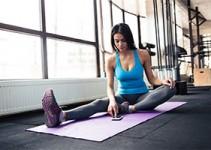 Attractive woman in Winnipeg exercising