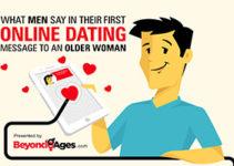 What men say to older women online