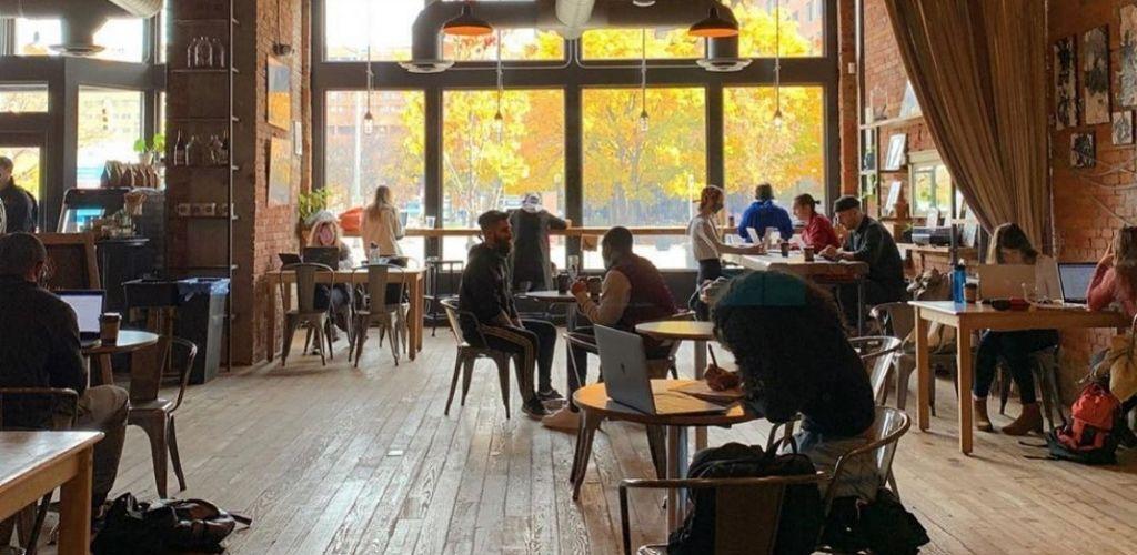 Downtown Detroit coffee shop