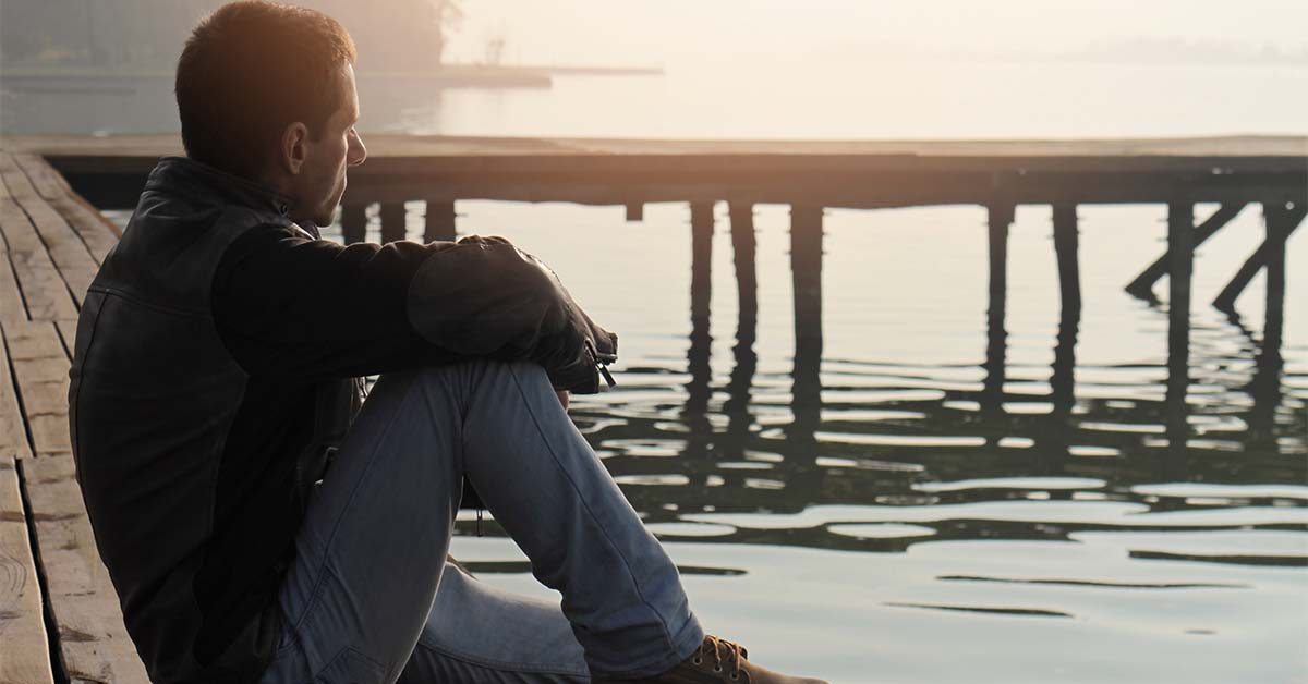 Man contemplating what he needs to change