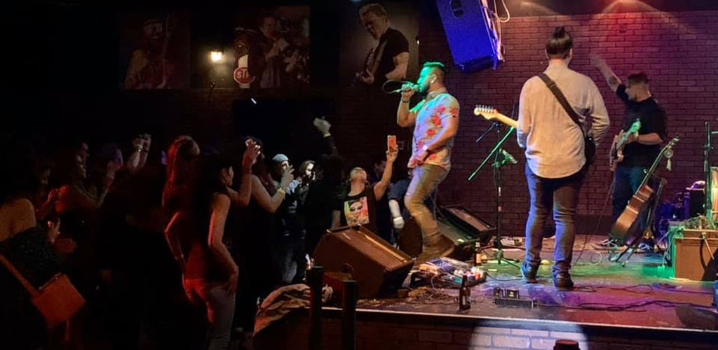 Malone's Bar & Grill during a rock performance