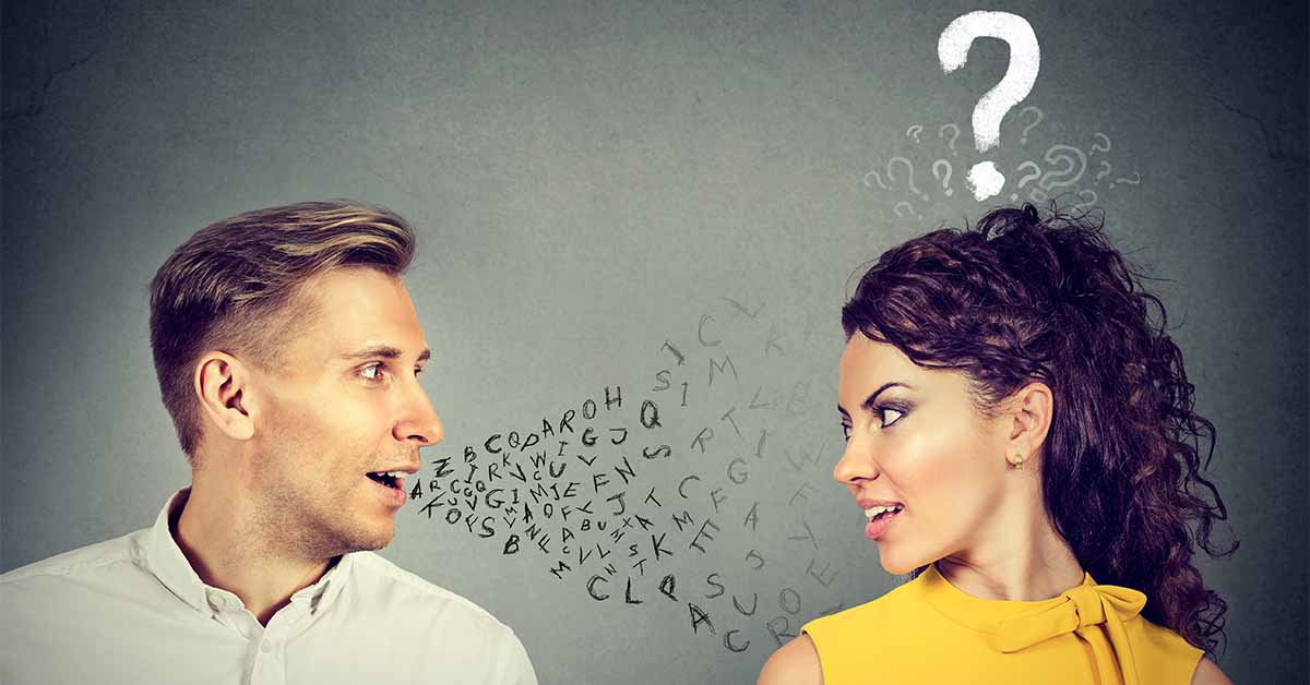 Man trying to communicate while dating an older woman