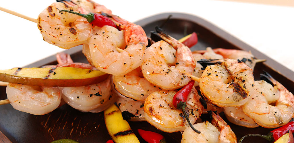 Shrimp Kabobs from ATCO Blue Flame Kitchen