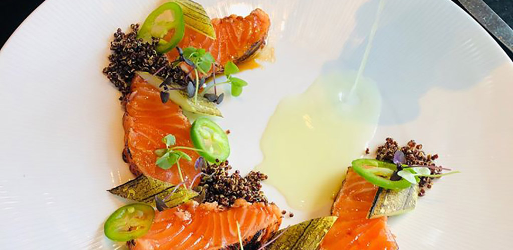 A smoked salmon dish from Grand Street