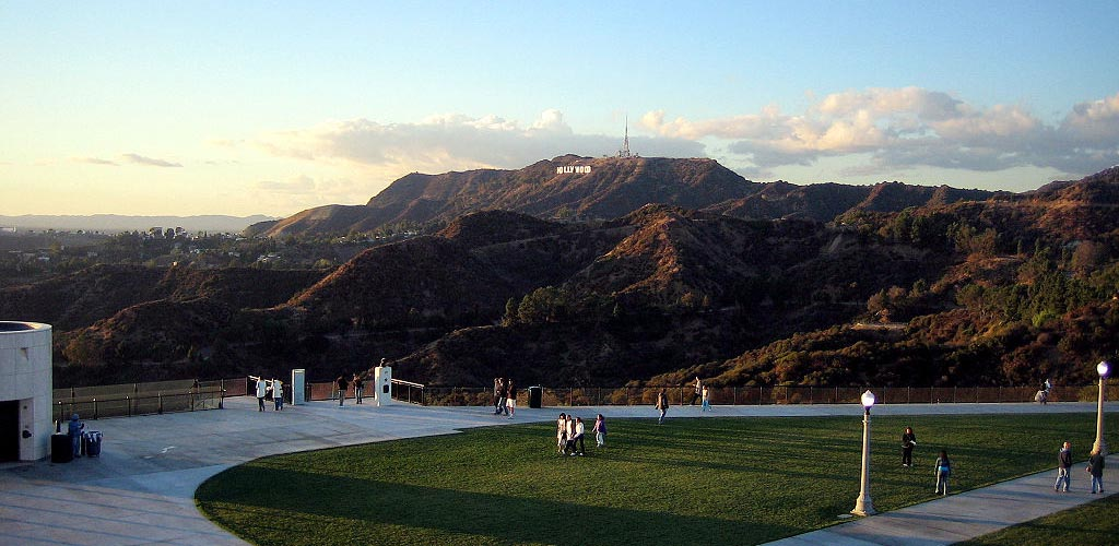 Griffith Park with a view of the famous Hollywood sign