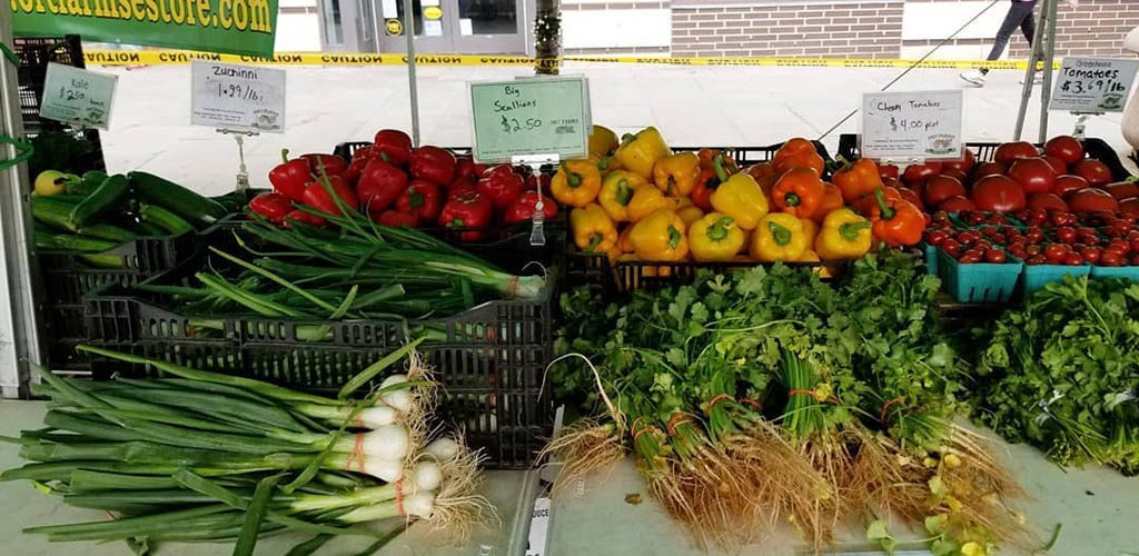 Fresh produce from Historic Downtown SID
