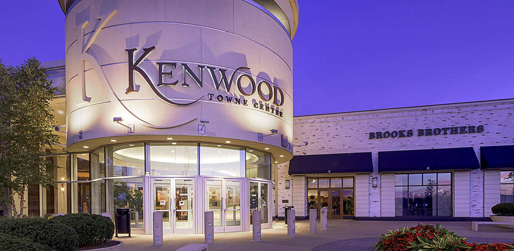Kenwood Towne Center in the evening