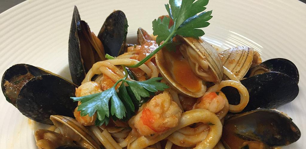 Seafood pasta from La Parmigiana