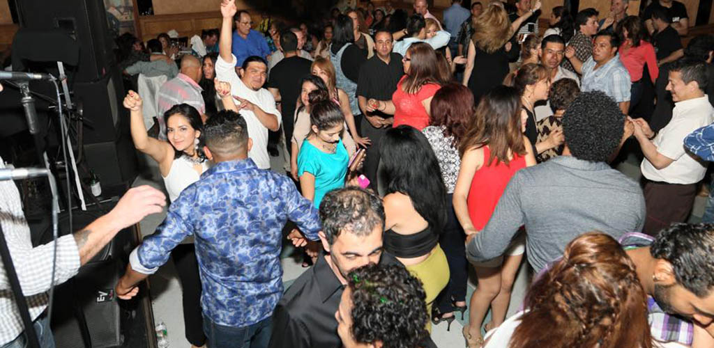 Dancing crowd at Lancer's Restaurant