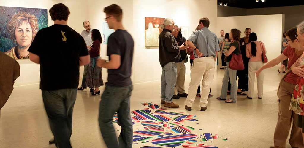 A sizable crowd at LexArts Gallery