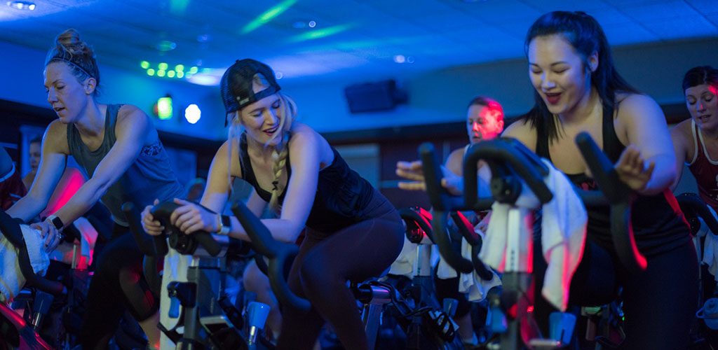 Cougars in Indiana at a spin class in Life Time