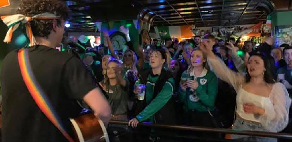A live performance at The Liffey