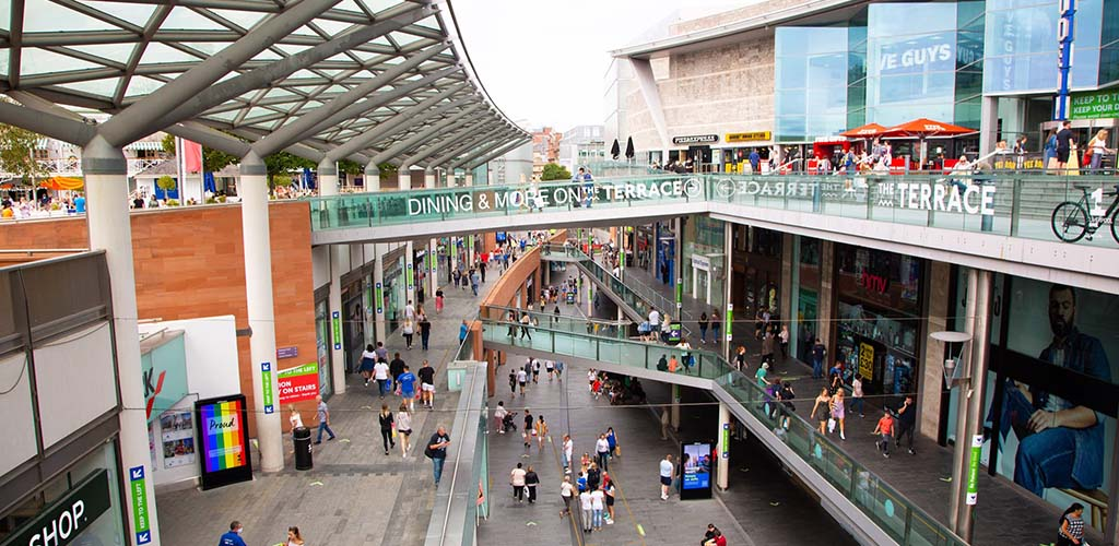 The outdoor area of Liverpool One