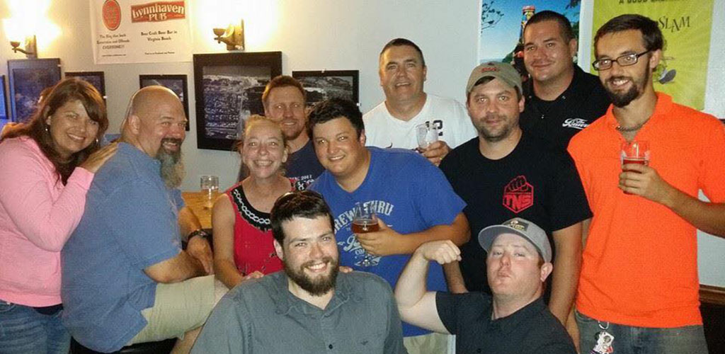Friends having a great time at Lynnhaven Pub