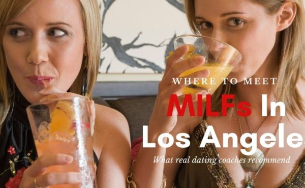 Los Angeles MILFs sipping cocktails at a bar