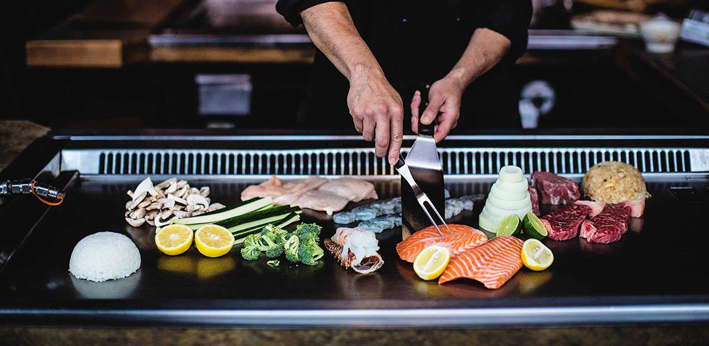 Hibachi-style dining at Nakama