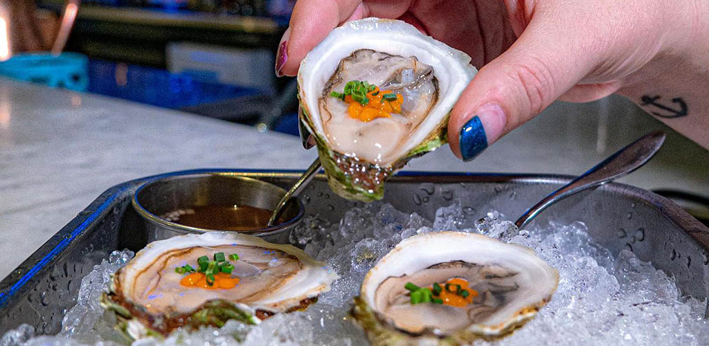 Fresh oysters from Raw Bar