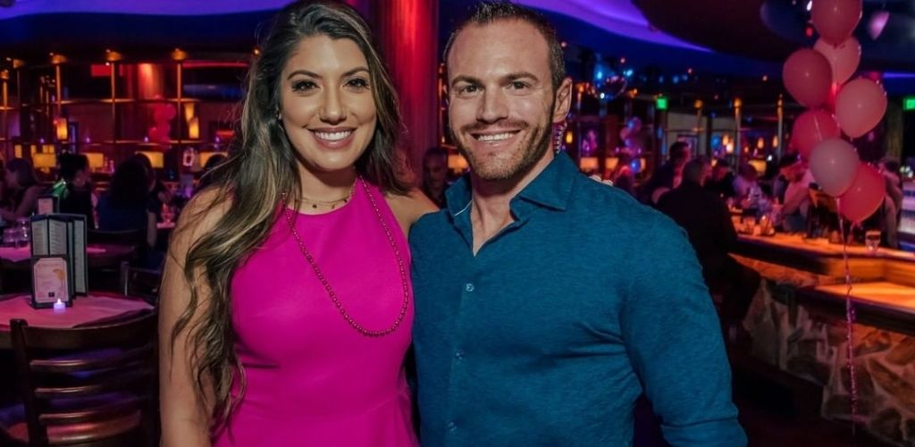 An Orlando couple on a date at Blue Martini Lounge