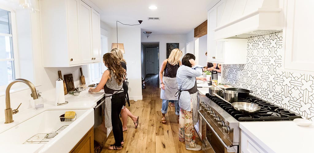 Phoenix MILFs at an intimate Whisked Away cooking class