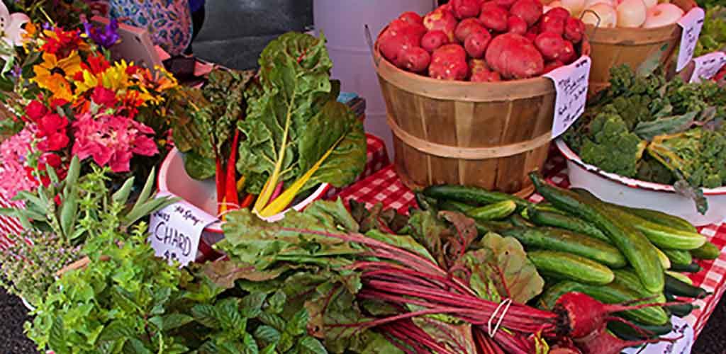 Fresh produce from Bloomington Farmers Market