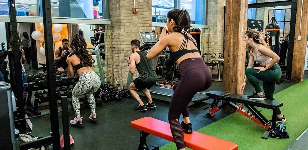 A Toronto MILF during an intense workout at BOLO
